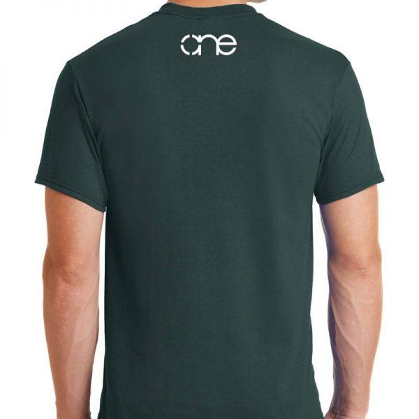 dark-green-short-sleeve-shirt-rear-one-white-upper-back