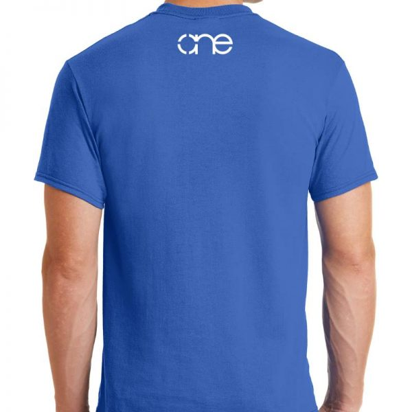 royal-blue-short-sleeve-shirt-rear-one-white-upper-back
