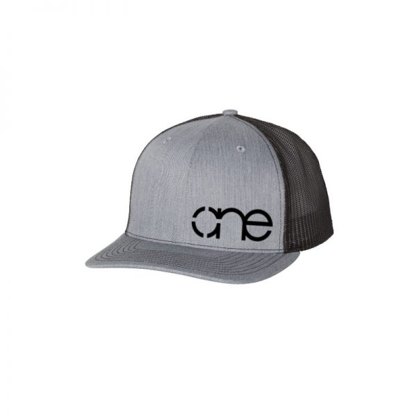 One Christian Trucker Hat, Heather Grey and Black, Snapback