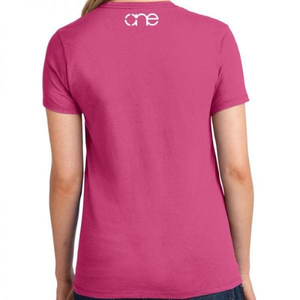Ladies Sangria short sleeve shirt with white one upper back.