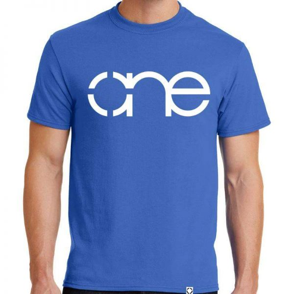 Mens Royal Blue One Short Sleeve Tee Shirt