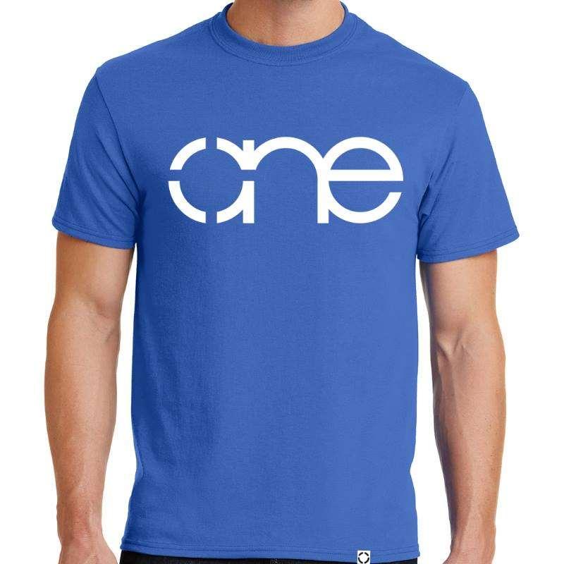 Mens Royal Blue One Short Sleeve Tee Shirt