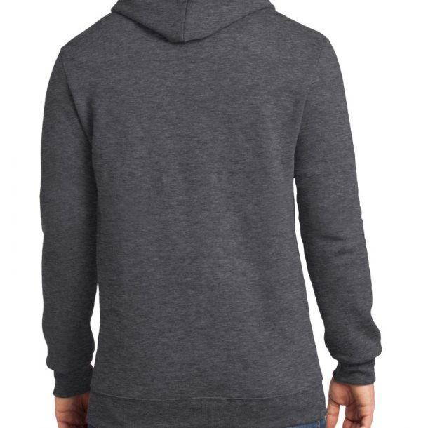 Unisex One Heather Charcoal Hoodie Rear