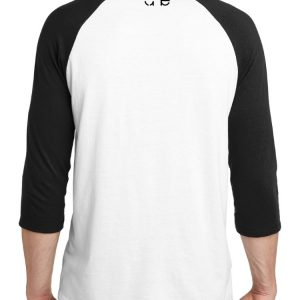 If the Mountains Bow in Reverence So Will I Christian Raglan Tee