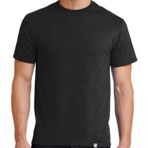 """Men's Black short sleeve """"One"""" Woven Label Christian Tee Shirt in White."""