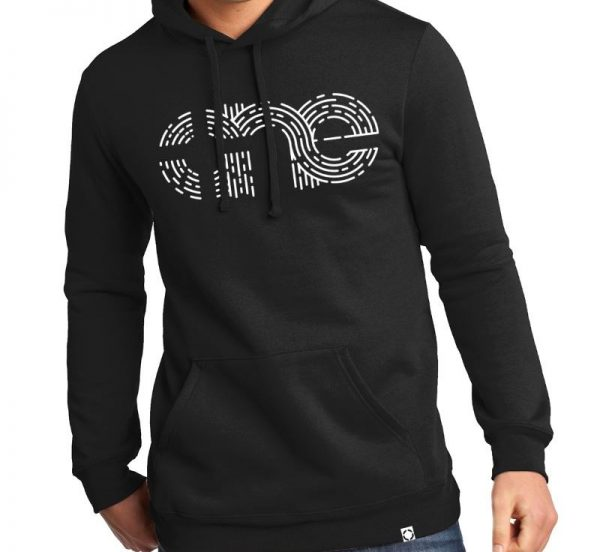 Unisex Black One Retro Hoodie Pull Over