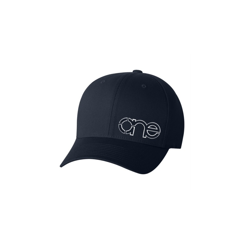 Navy Blue Flexfit Cap with Blue One logo with White outline.