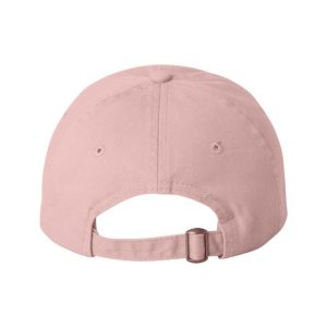 Pink Dad Cap with White One Logo, backside of the hat.