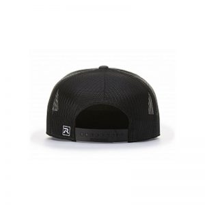 One Way Truth Life Hi-Pro 7 Panel Richardson Trucker Hats in Black, back of the hat.