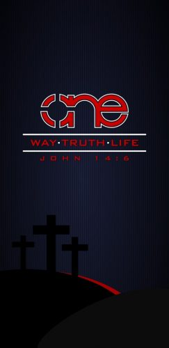 One Way Truth Life with a dark background for mobile phones.