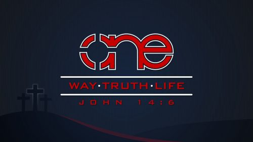 One Way Truth Life background image in dark.