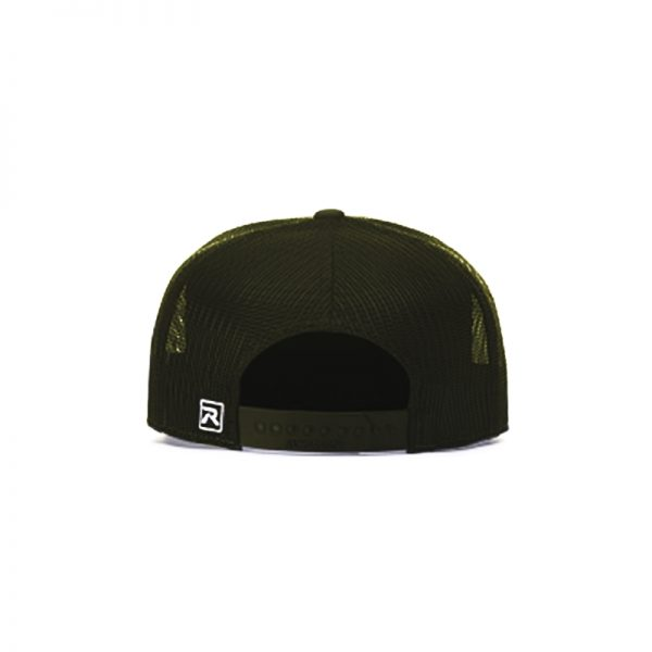 One Way Truth Life Hi-Pro 7 Panel Richardson Trucker Hats in Olive, back of the hat.