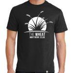 "Men's black short sleeve ""The Wheat"" Christian tee shirt."